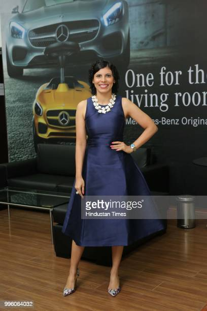 Anuradha Menon during the launch of Shes Mercedes an initiative of TT Motors one of Indias largest and oldest luxury car dealerships for MercedesBenz...
