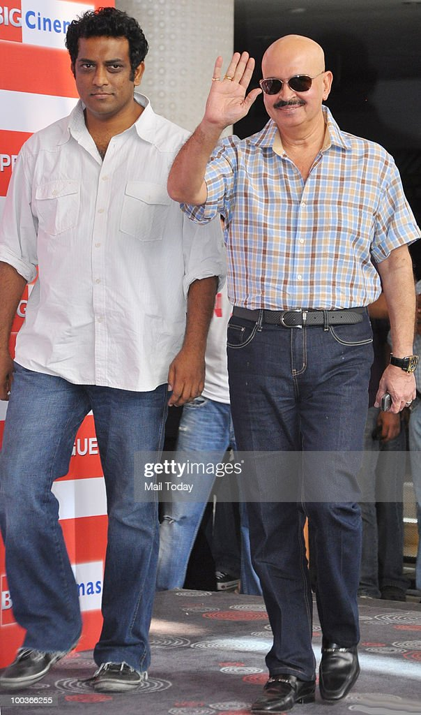 Anurag Basu and Rakesh Roshan at a promotional event for the film Kites in Mumbai on May 22, 2010.