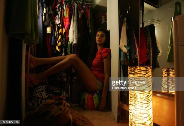 Anushka in her wardrobe for Me and My Wardrobe series at her residence in Andheri