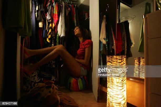 Anushka Manchanda in her wardrobe for Me and My Wardrobe series at her residence in Andheri