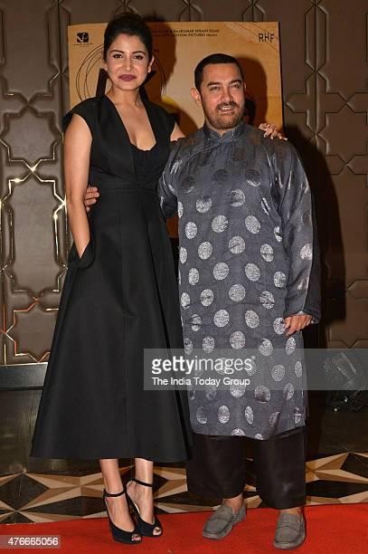Anushka Sharma and Aamir Khan at the success party of the movie PK in Mumbai