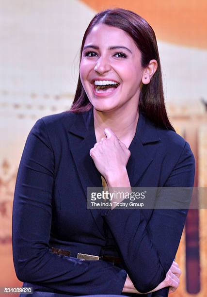 Anushka Sharma at the theatrical trailer launch of her upcoming movie Sultan at Film City in Mumbai
