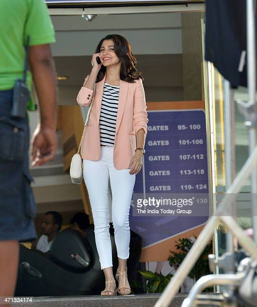 Anushka Sharma busy with ad shoot at a mall in Mumbai