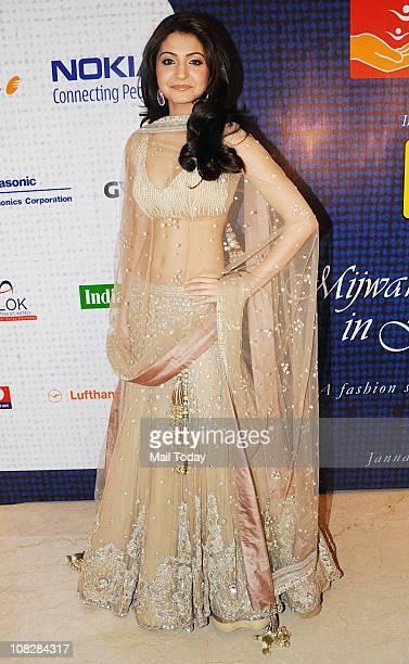 Anushka Sharma during Shabana Azmi's Charity Show 'Mizwan' which is an Welfare Society run by her at Trident Bandra Kurla Mumbai