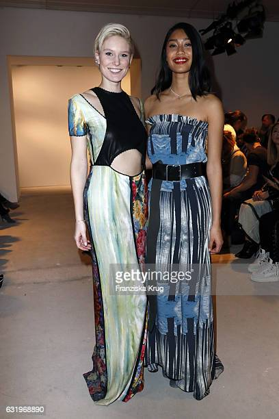 Anuthida Ploypetch and Kim Hnizdoattend the Rebekka Ruetz show during the MercedesBenz Fashion Week Berlin A/W 2017 at Kaufhaus Jandorf on January 18...