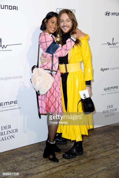 Anuthida Ploypetch and Riccardo Simonetti during the Marina Hoermanseder Defile during 'Der Berliner Salon' AW 18/19 at Von Greifswald on January 18...