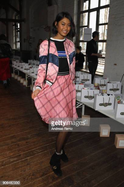 Anuthida Ploypetch attends the Marina Hoermanseder Defile during 'Der Berliner Salon' AW 18/19 at Von Greifswald on January 18 2018 in Berlin Germany