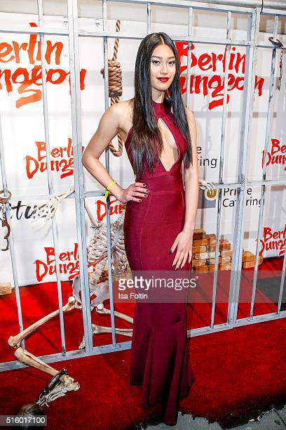 Anuthida Ploypetch attends the Premiere Of 'Exitus' FreefallTowers At Berlin Dungeon on March 16 2016 in Berlin Germany
