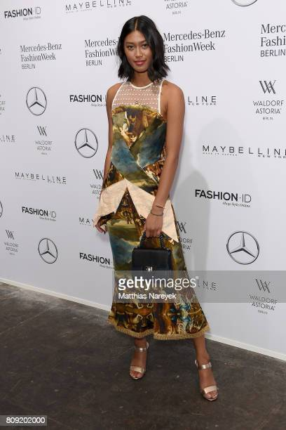 Anuthida Ploypetch attends the Rebekka Ruetz show during the MercedesBenz Fashion Week Berlin Spring/Summer 2018 at Kaufhaus Jandorf on July 5 2017...