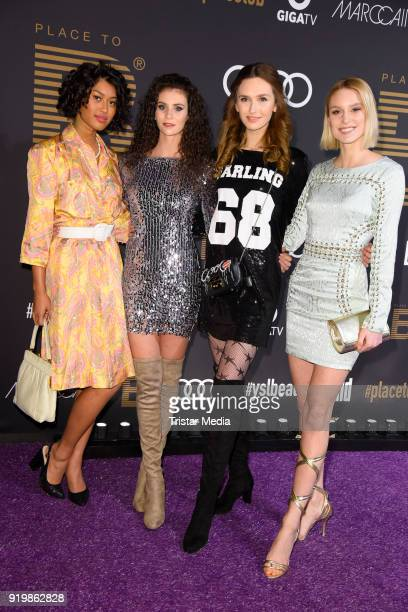 Anuthida Ploypetch Betty Taube Anna Wilken Kim Hnizdo attend the PLACE TO B Party on February 17 2018 in Berlin Germany