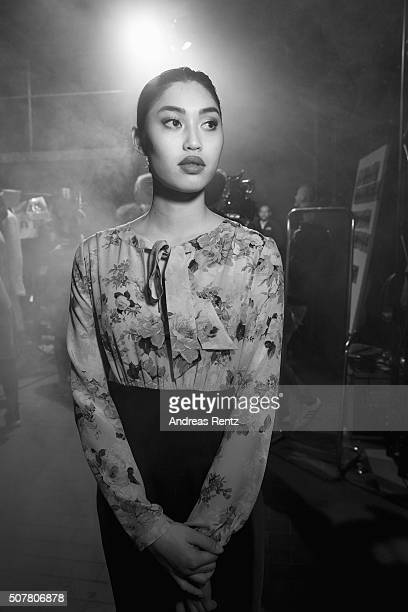 Anuthida Ploypetch is seen backstage prior to the Thomas Rath show during Platform Fashion January 2016 at Areal Boehler on January 31 2016 in...