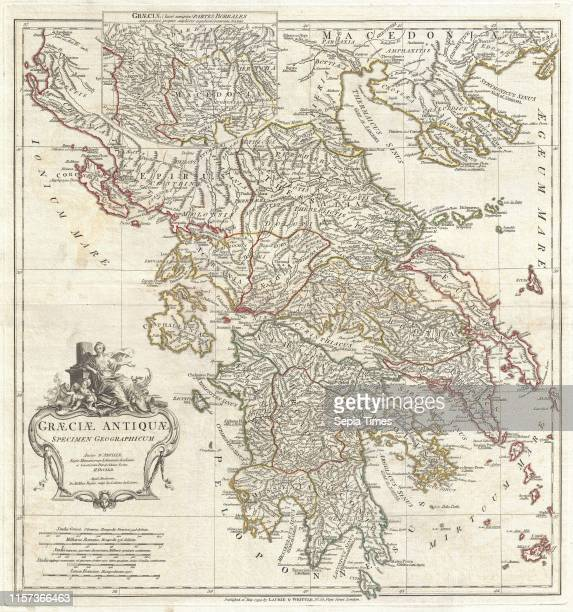 1794 Anville Map of Ancient Greece