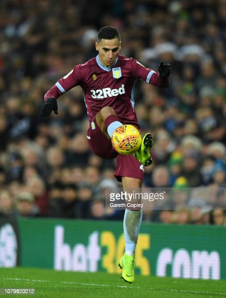 Anwar El Ghazi of Aston Villa at The Hawthorns on December 07 2018 in West Bromwich England