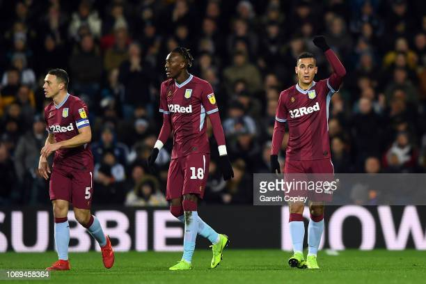Anwar El Ghazi of Aston Villa celebrtaes scoring during the Sky Bet Championship match between West Bromwich Albion and Aston Villa at The Hawthorns...