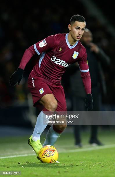Anwar El Ghazi of Aston Villa during the Sky Bet Championship match between West Bromwich Albion and Aston Villa at The Hawthorns on December 7 2018...