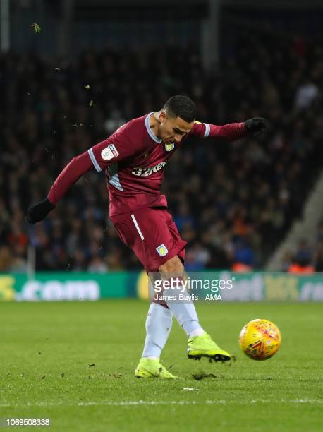 Anwar El Ghazi of Aston Villa scores a goal to make it 12 during the Sky Bet Championship match between West Bromwich Albion and Aston Villa at The...