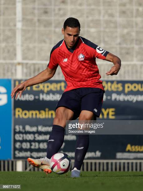 Anwar El Ghazi of Lille during the Club Friendly match between Lille v Reims at the Stade Paul Debresie on July 14 2018 in Saint Quentin France