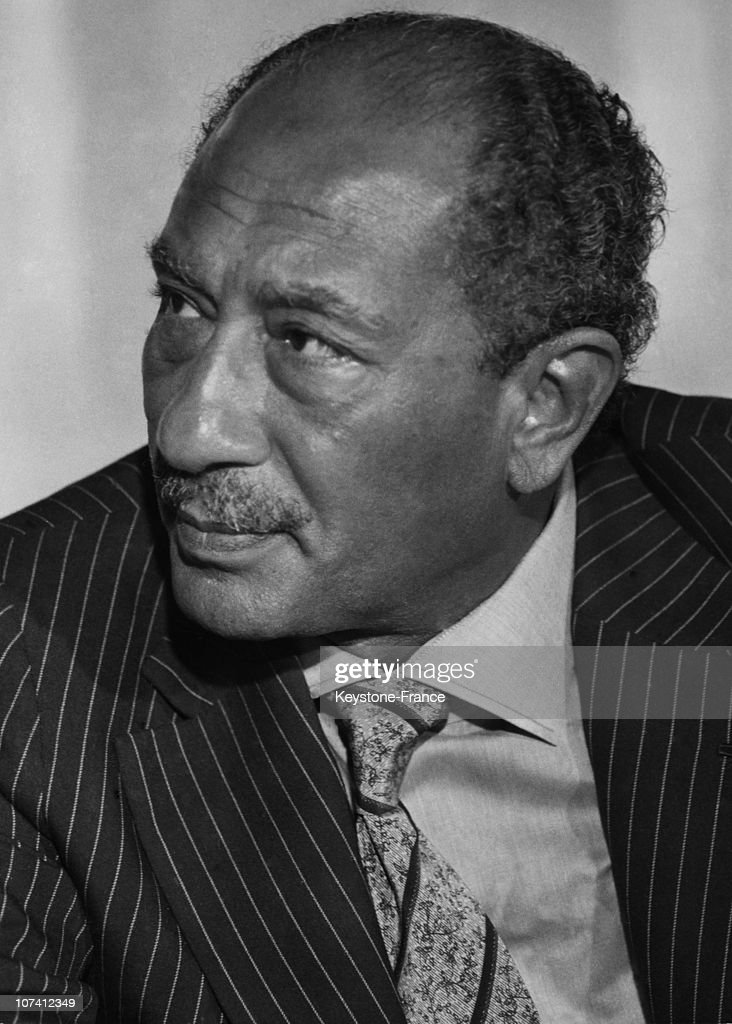 Anwar El Sadat, Egypt President In Egypt : News Photo