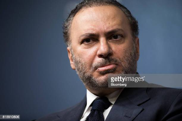 Anwar Gargash United Arab Emirates' foreign minister pauses during a speech at Chatham House in London UK on Monday July 17 2017 Gargash denied any...