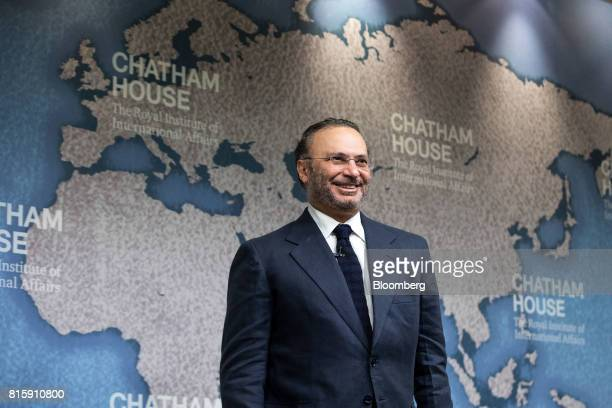 Anwar Gargash United Arab Emirates' foreign minister reacts as he prepares to speak at Chatham House in London UK on Monday July 17 2017 Gargash...