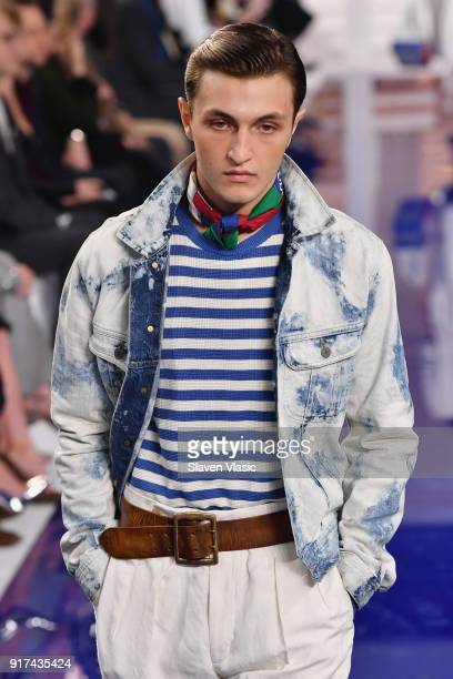 Anwar Hadid A model walks the runway for Ralph Lauren during New York Fashion Week The Shows at on February 12 2018 in New York City