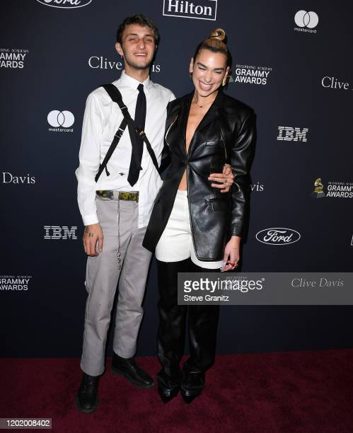 Anwar Hadid and Dua Lipa arrives at the PreGRAMMY Gala and GRAMMY Salute to Industry Icons Honoring Sean Diddy Combs at The Beverly Hilton Hotel on...
