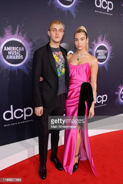 Anwar Hadid and Dua Lipa attend the 2019 American Music Awards at Microsoft Theater on November 24 2019 in Los Angeles California