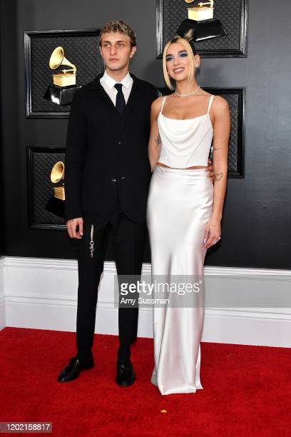 Anwar Hadid and Dua Lipa attend the 62nd Annual GRAMMY Awards at Staples Center on January 26 2020 in Los Angeles California