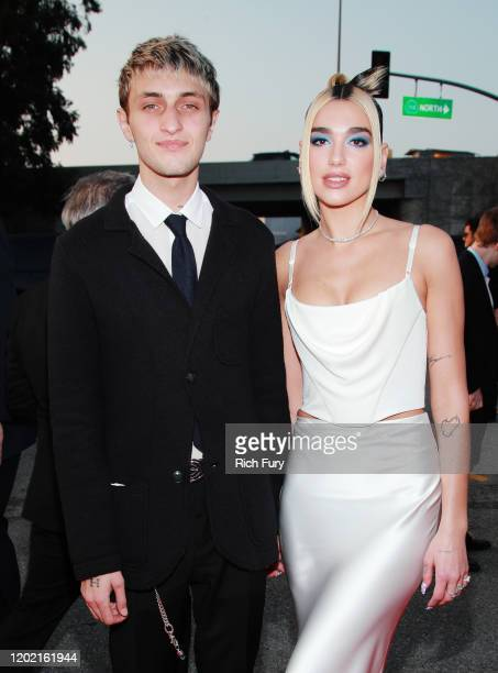 Anwar Hadid and Dua Lipa attend the 62nd Annual GRAMMY Awards at STAPLES Center on January 26, 2020 in Los Angeles, California.