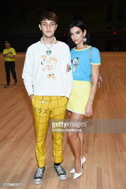 Anwar Hadid and Dua Lipa attend the Marc Jacobs Spring 2020 Runway Show at Park Avenue Armory on September 11 2019 in New York City
