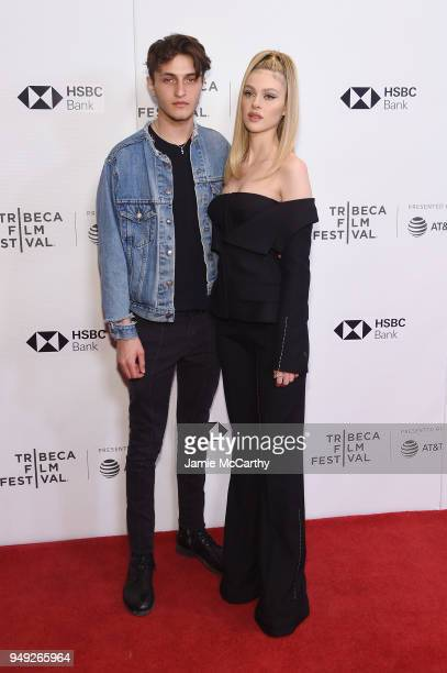 Anwar Hadid and Nicola Peltz attend the screening of 'Back Roads' during the Tribeca Film Festival at Cinepolis Chelsea on April 20 2018 in New York...