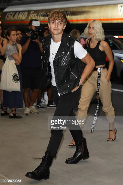 Anwar Hadid arrives at the 6th annual fashion media awards at the Park Hyatt hotel on September 6 2018 in New York City