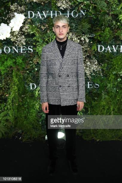 Anwar Hadid attends the David Jones Spring Summer 18 Collections Launch at Fox Studios on August 8 2018 in Sydney Australia