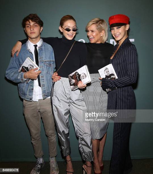 Anwar Hadid Gigi Hadid Yolanda Hadid and Bella Hadid attend the book signing of Yolanda Hadid's new book 'Believe Me My Battle with the Invisible...