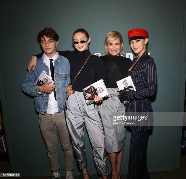 Anwar Hadid Gigi Hadid Yolanda Hadid and Bella Hadid attend the book signing of Yolanda Hadid's new book Believe Me My Battle with the Invisible...