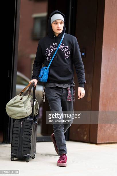 Anwar Hadid is seen in NoHo on December 20 2017 in New York City