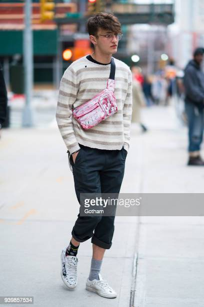 Anwar Hadid is seen in NoHo on March 29, 2018 in New York City.