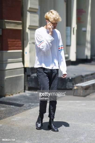 Anwar Hadid is seen in Soho on May 29 2018 in New York City