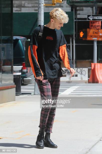 Anwar Hadid is seen on May 23, 2018 in New York City.