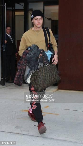 Anwar Hadid is seen on November 13, 2017 in New York City.