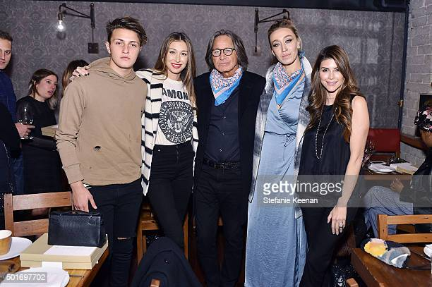 Anwar Hadid Marielle Hadid Mohamed Hadid Alana Hadid and Shiva Safai attend Alana Hadid x Lou Grey Celebrate Collaboration With Friends And Family In...
