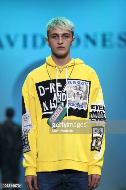 Anwar Hadid showcases designs by Diesel during the David Jones Spring Summer 18 Collections Launch at Fox Studios on August 8 2018 in Sydney Australia