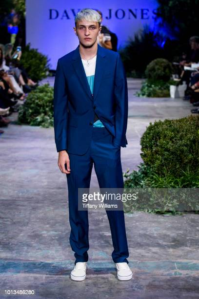 Anwar Hadid showcases designs by Sand designs during the David Jones Spring Summer 18 Collections Launch at Fox Studios on August 8 2018 in Sydney...