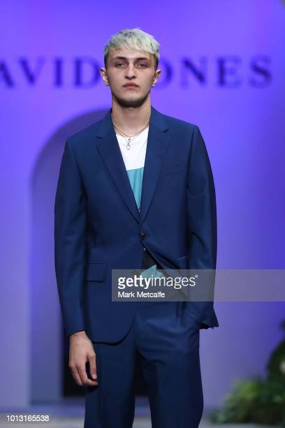 Anwar Hadid showcases designs by Sand during the David Jones Spring Summer 18 Collections Launch at Fox Studios on August 8 2018 in Sydney Australia