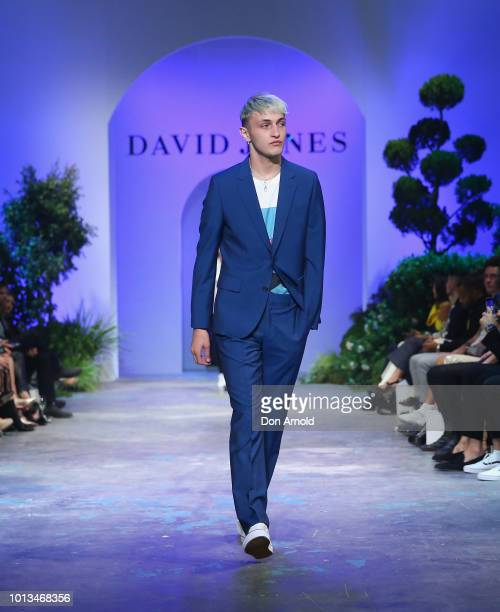 Anwar Hadid showcases designs during the David Jones Spring Summer 18 Collections Launch at Fox Studios on August 8 2018 in Sydney Australia