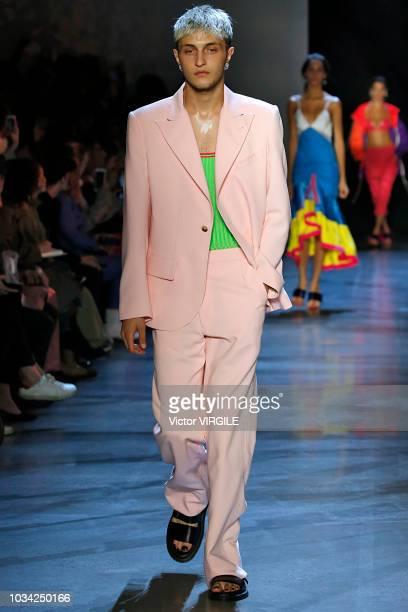 Anwar Hadid walks at the Prabal Gurung Spring/Summer 2019 fashion show during New York Fashion Week on September 9 2018 in New York City