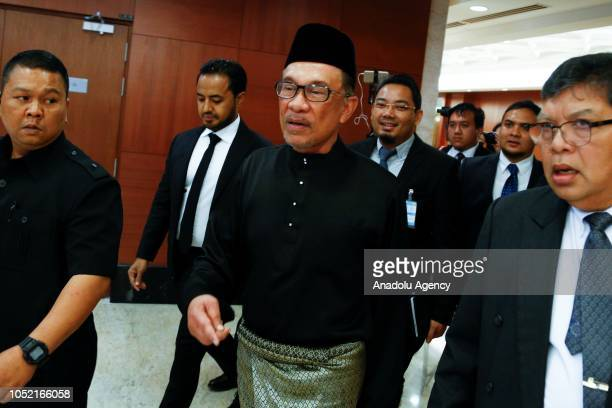 Anwar Ibrahim arrives at House of Representatives to take his oath as a Member of Parliament during the swearingin ceremony at the Parliament House...