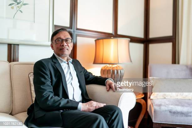 Anwar Ibrahim founder of Malaysia's People's Justice Party poses for a photograph in Hong Kong China on Wednesday Sept 12 2018 Anwar whos in line to...