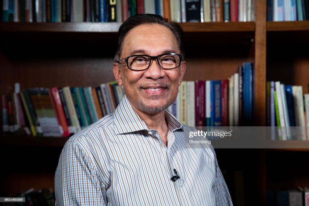 Malaysian Politician Anwar Ibrahim Interview : News Photo