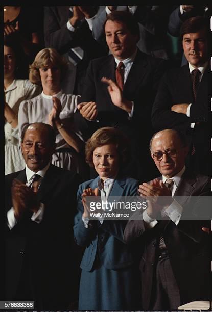 Anwar Sadat Rosalynn Carter and Menachem Begin